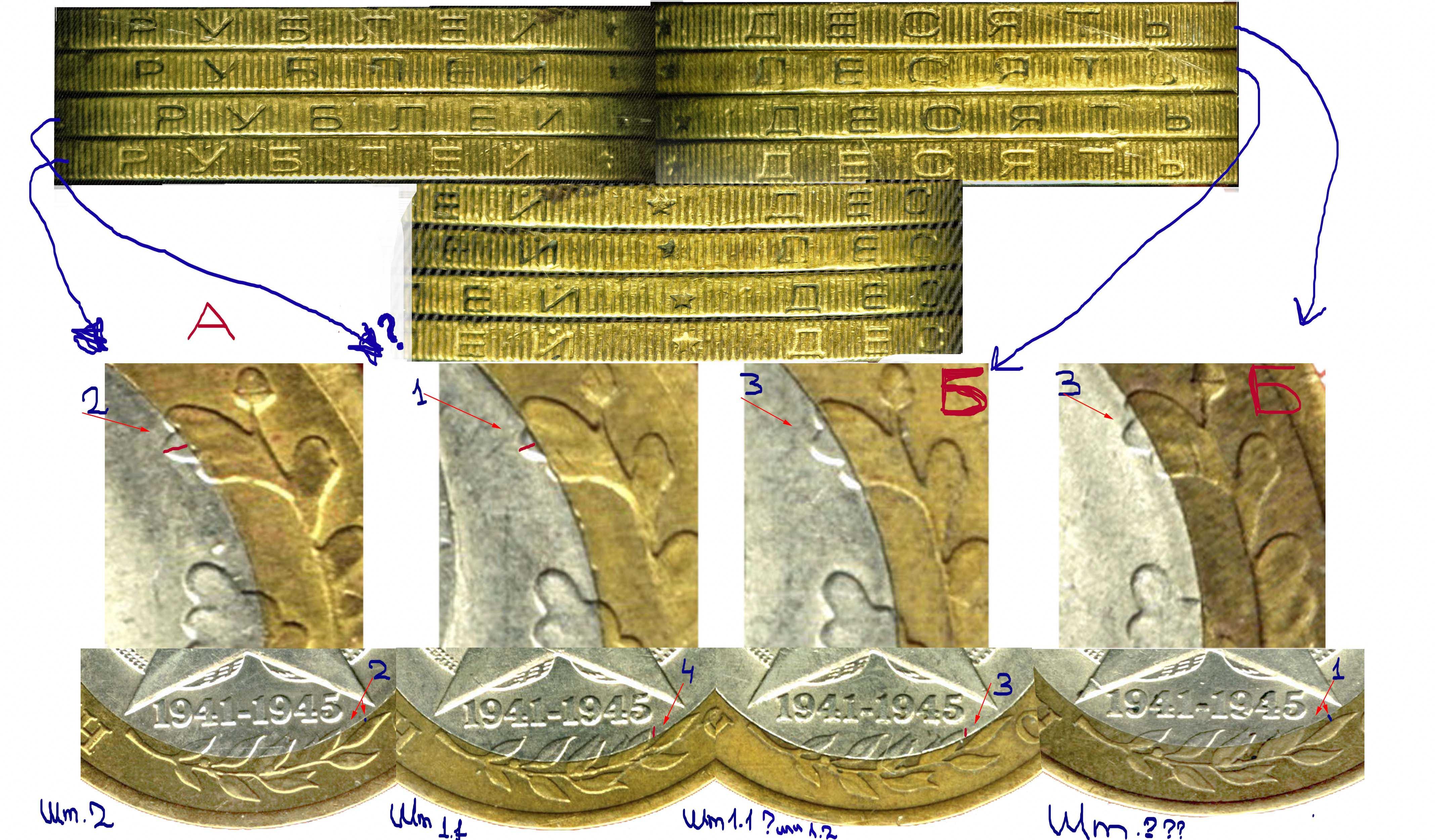 60 лет победы 10 рублей графический символ рубля купить